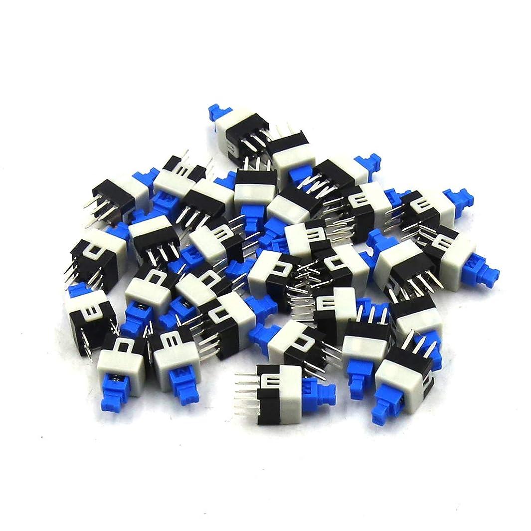 TOUHIA 7mm x 7mm 6 Pin Self-locking Power Micro Push Button Switches(30PCS)
