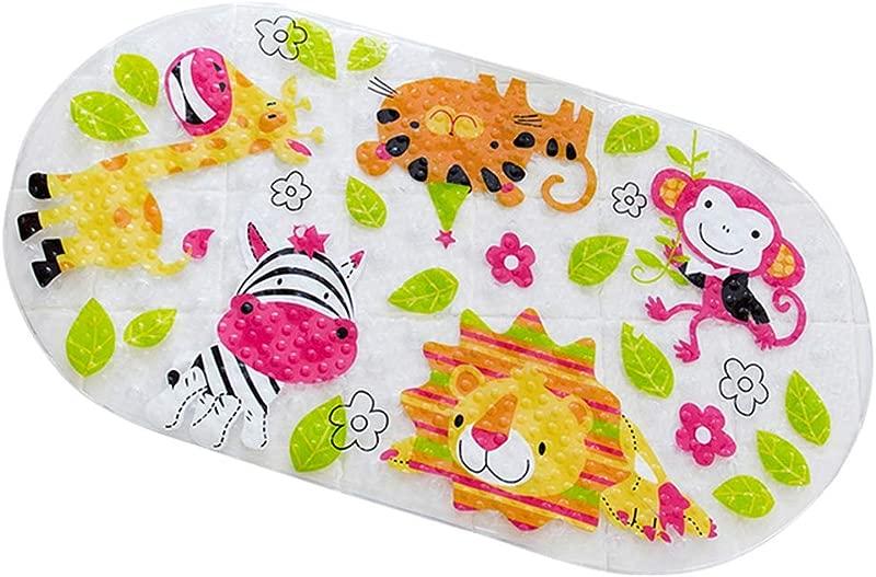 Bjduck99 Cartoon Fish Animal Anti Slip Bathtub Mats Kid Bathroom Shower Carpet Floor Pad With Sucker Transparent 5
