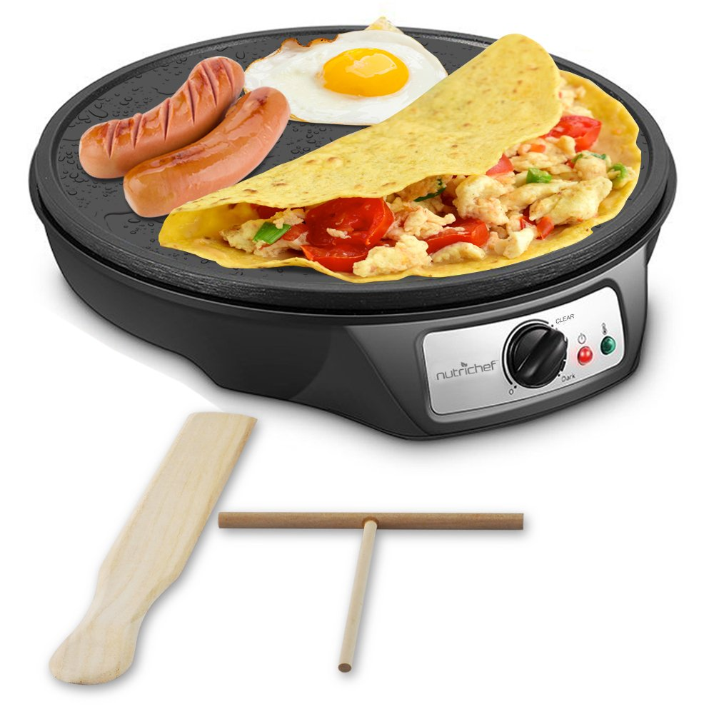 Nonstick 12 Inch Electric Crepe Maker