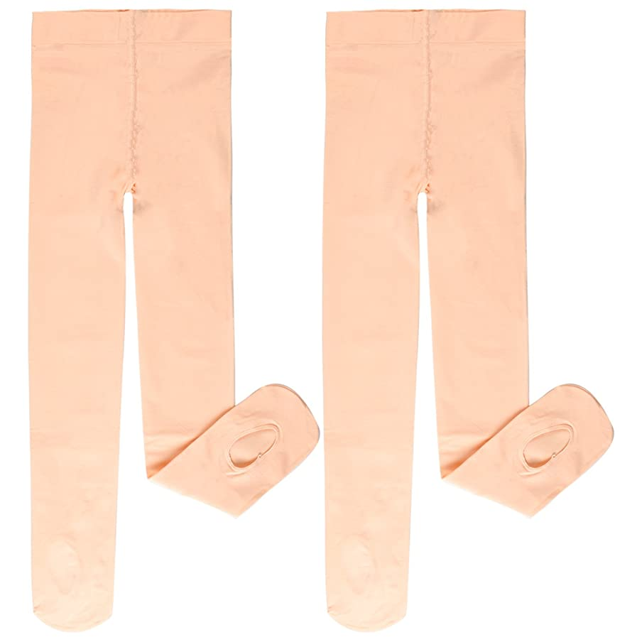 EPEIUS Girls' Pro Dance Tights 60D Ballet Transition Tights (Pack of 2)
