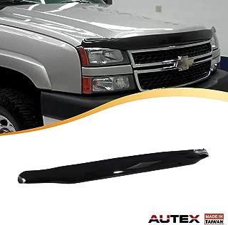 AUTEX Hood Shields Bug Deflector Compatible with Chevrolet Silverado 1500 2500 3500 2005 2006 Hood Protector Deflector