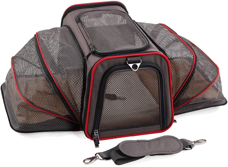 Pet backpack Pet Outing Bag cat Bag Dog Bag Folding Backpack Out Portable (color   B, Size   M)
