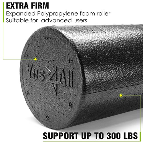 Product Image 4: Yes4All EPP Exercise Foam Roller – Extra Firm High Density Foam Roller – Best for Flexibility and Rehab Exercises (18 inch, Black)