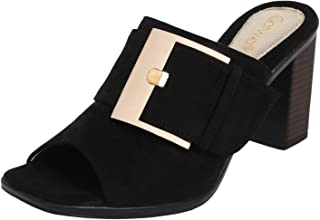 Catwalk Women's Buckle Detail Slip Ons