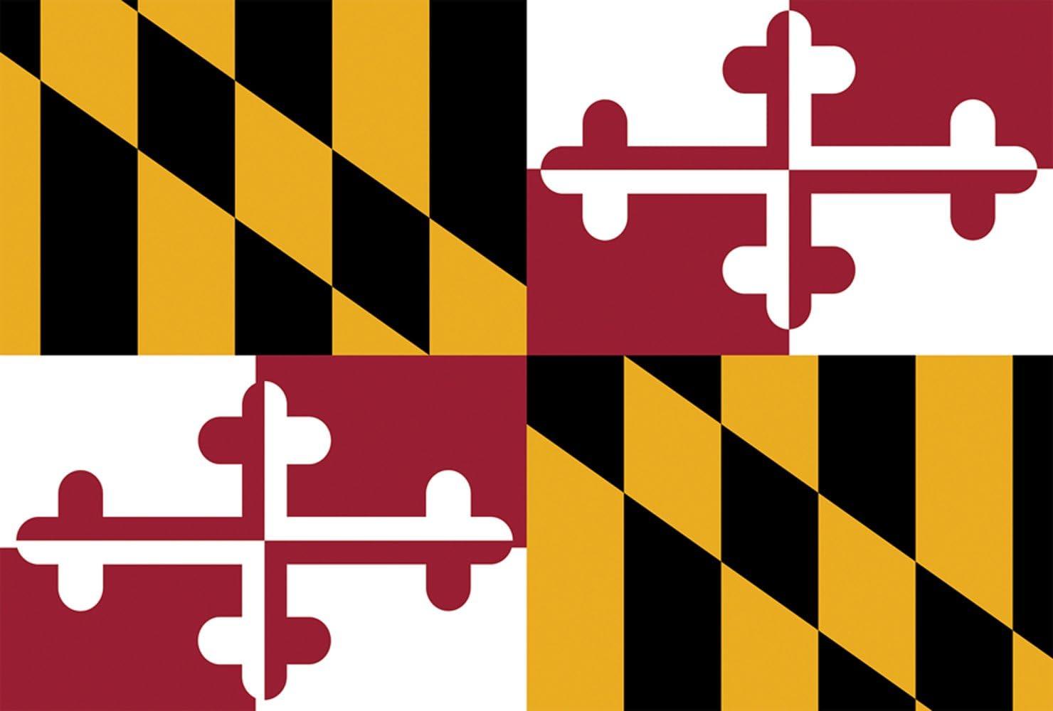 Toland Home Garden Maryland State Flag 12 5 X 18 Inch Decorative Usa Garden Flag Garden Outdoor Amazon Com