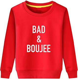 CINFUN Little Boys Grils Bad and Boujee Hip Hop Hoodies