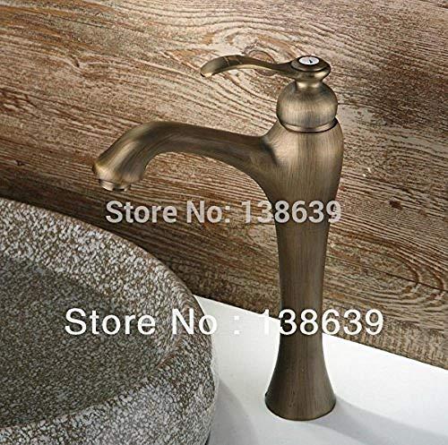 Grifo de lavabo de bronce de latón antiguo más vendido Grifo/grifo de baño barato individual Buena calidad Mango amarillo de bronce