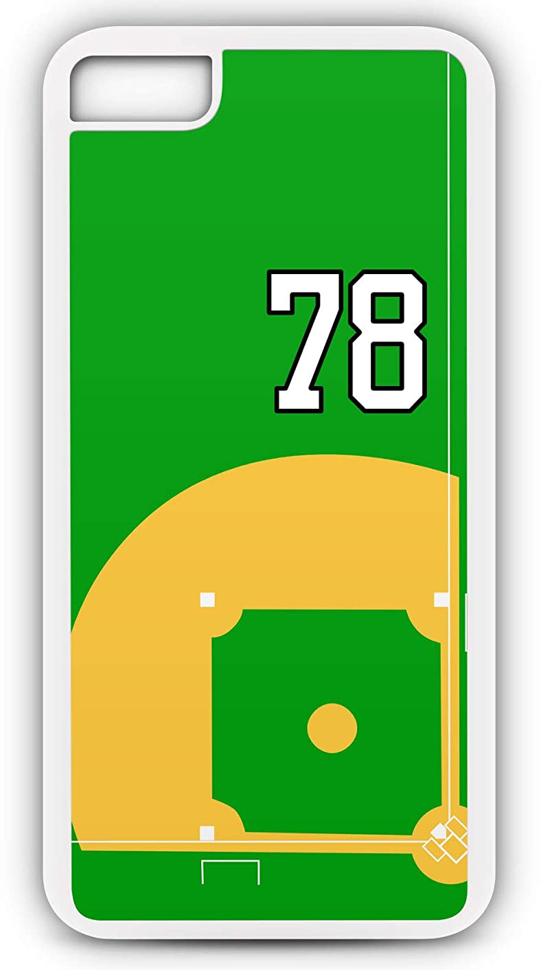 iPhone 7 Plus 7+ Case Baseball B116Z Choice of Any Personalized Name or Number Tough Phone Case by TYD Designs in White Plastic and Black Rubber with Team Jersey Number 78