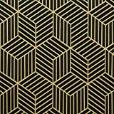 17.7'X118'Black Wallpaper Geometric Peel and Stick Wallpaper Gold Stripe Black Contact Paper Removable Self Adhesive Wallpaper Easy to Clean for WallCovering Shelf Liner Countertop