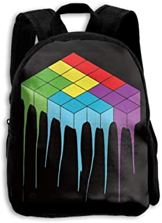 Children Boys Girls Tetris Melt Cool Backpack Shoulder Bag Book Scholl Travel Backpack Mochila para niños