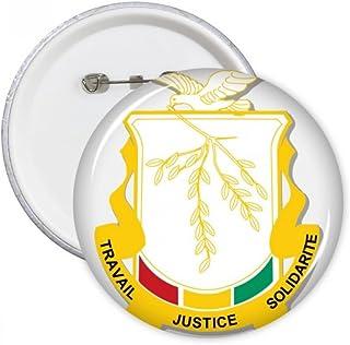 DIYthinker Guinée Afrique Badge National Pins Round Emblem bouton Vêtements Décoration 5pcs cadeaux Multicolore L