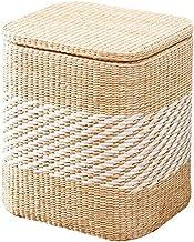 Multifunction Stool Storage Bench Storage Bench Shoes Cart Finishing Storage Box Sundries Organizer Basket with Lid,S