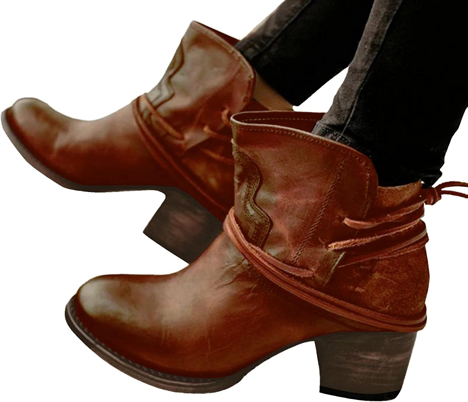 Choice Ankle Boots for Factory outlet Women Winter C Vintage Wide Fashion Cowboy