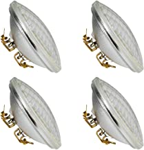 Haian PAR36 LED Landscape Bulb,9W 900LM 50W Halogen Equivalent,3000K Warm White, 12V AC/DC,Water Resistant,PAR36 LED Bulb for Landscape Lighting,Off-Road Vehicles,RV Vehicles, Tractor (4 Pack)