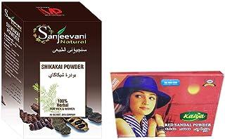 Sanjeevani Pure Indian 100% Natural Shikakai Powder 100gm With Kalya Red Sandal Powder - Rakthachandanam Skin Care Powder ...