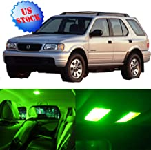 SCITOO LED Interior Lights 11pcs Green Package Kit Accessories Replacement for 1998-2002 Honda Passport