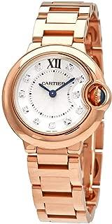 Cartier Ballon Bleu Silver Dial 18k Rose Gold Ladies Watch WE902025