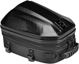 Kesoto Bolsa removível para assento traseiro de motocicleta impermeável bolsa de armazenamento de bagagem preta