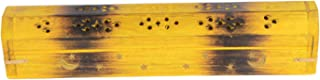Artist Haat Wooden Coffin Incense Burner - Yellow Star and Moon 12