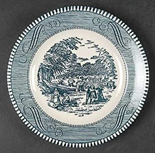 Currier & Ives Blue - by ROYAL Bread & Butter Plate - Harvest