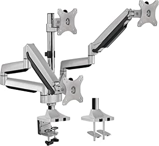 triple monitor floor stand