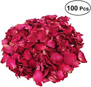 FRCOLOR 250g Dried Rose Petals Natural Dry Flower Petal for Bath Foot Bath Wedding Confetti Crafts Accessories