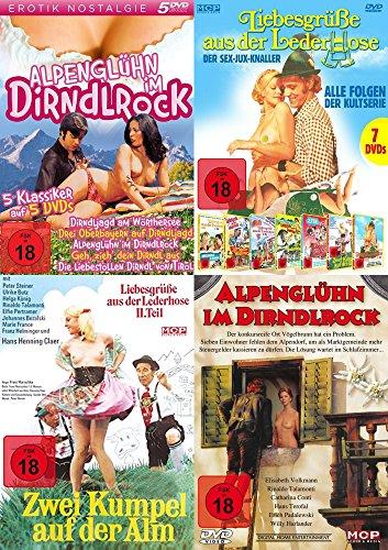 15 Erotik Komödien Klassiker Collection ALPENGLÜHN IM DIRNDLROCK & LIEBESGRÜSSE AUS DER LEDERHOSE DVD Limited Edition