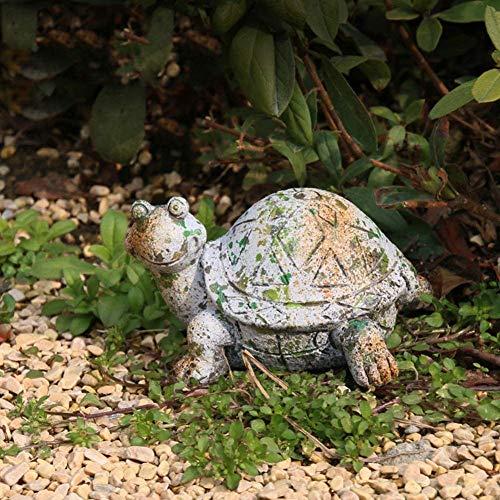 Decoración del hogar Corral Animal Tortuga Interior Exterior Jardín Flor Planta Maceta Decoraciones Huecas Escultura Estatua Escultura Jardín Escultura Tortuga Gris