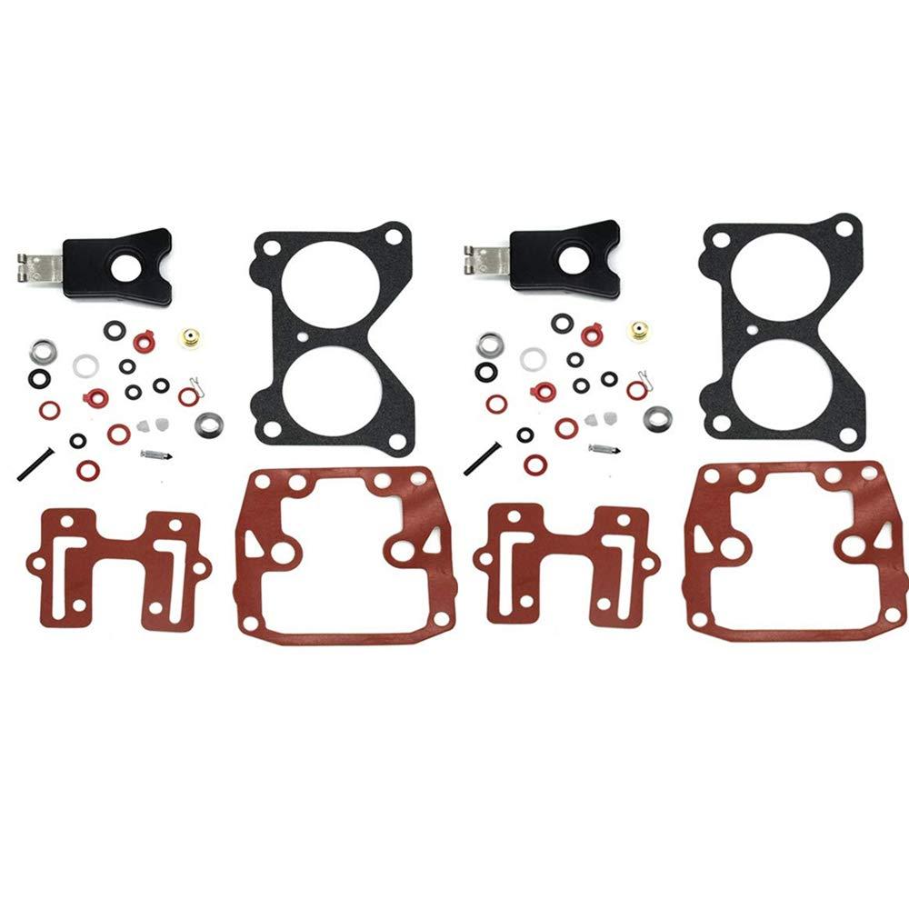 Carbman Carburetor Repair Rebuild Kit with Float for Johnson Evinrude Outboard Motors 18-7046 439076