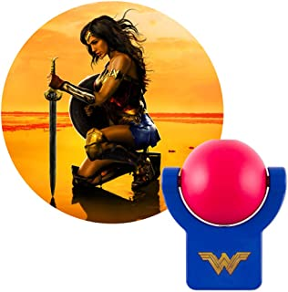 Projectables 40255 Wonder Woman LED Plug-in Night Light, DC Comics Character onto Ceiling, Wall or Floor, Red and Blue