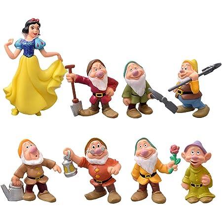 Nesloonp Caricatura Princesa Cake Topper Mini Juego de Figuras Niños Minifiguras Topper de Tarta Decoración Princesa Doll Modelos Juguete Figura Mini Doll Decoraciones de Pasteles Cumpleaños 8 Piezas
