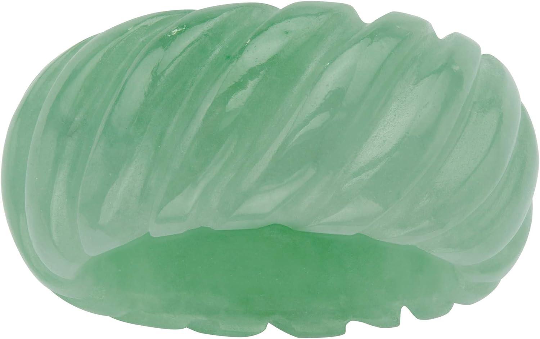 Genuine Green Jade Shrimp Style Ring (11mm)