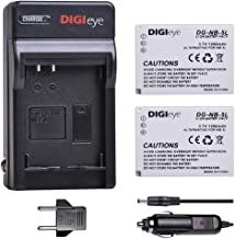 DIGIeye 2Pcs 1200mAh NB-5L NB5L Battery and Charger for Canon PowerShot S100, S110, SD700 is, SD790 is, SD800 is, SD850 is, SD870 is, SD880 is, SD890 is