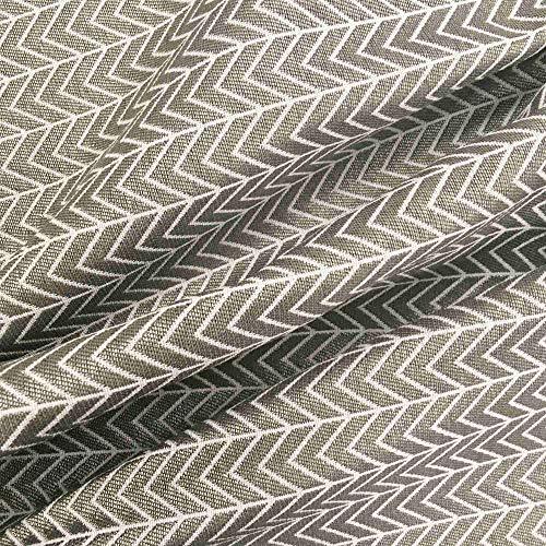 Tela por metros de tapicería - Jacquard - Ancho 280 cm - Largo a elección de 50 en 50 cm | Espiga - Marrón