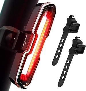 DON PEREGRINO 110ルーメン 高輝度LEDリアバイクライト USB充電式パワフル自転車テールライト サイクリング安全用
