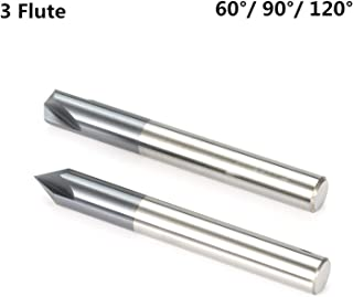 """1//4/"""" 90° Included 2 Flute Double End Carbide Chamfering Tool Un-Coated USA"""