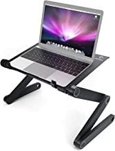 LifeBasis Adjustable Laptop Desk Portable Laptop Stand Bed Table & Cooling Stand Aluminum Rotate 360 Degrees Foldable Tabl...