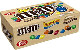 M&M'S Almond Chocolate Candy Sharing Size 2.83-Ounce Pouch 18-Count Box