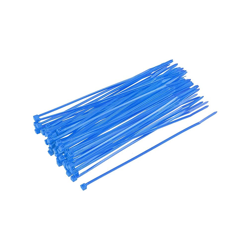 代わりに背が高い先駆者uxcell ケーブルジップタイ セルフロックナイロンタイラップ 150 mmx2.5 mm ブルー 100個入り