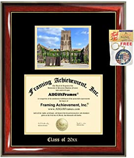 Diploma Frame Big Lehigh University Graduation Gift Case Embossed Picture Frames Engraving Certificate Holder Graduate Bachelor Masters MBA PHD Doctorate School