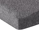 Amazon Basics Heather Jersey Fitted Crib Sheet Bedding, Dark Grey