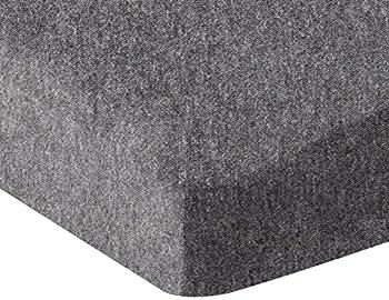 Amazon Basics Heather Jersey Fitted Crib Sheet Bedding Dark Gray