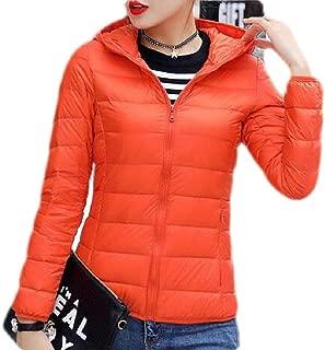 Macondoo Womens Warm Coat Zipper Hooded Lightweigth Puffer Down Jackets
