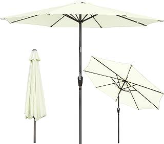 GIKPAL Parasol Inclinable, 2.7M Parasol de Jardin Balcon Protection UV Étanche avec Manivelle et Bouton d'Inclinaison pour...