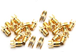 QMseller End Launch PCB Mount SMA Female Straight RF Connector Adapter 25PCS