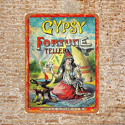 Owesoe Gypsy Fortune Teller Tin Sign 8x12 Wall Decor for Indoor Outdoor