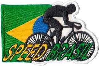 Patch Bordado - Ciclismo Bike Speed Bandeira Brasil AD30146-142 Termocolante Para Aplicar