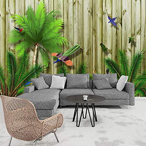 Fototapete Tropische Regenwaldplanke Moderne Wanddeko Design Tapete Wandtapete Wand Dekoratio TV Hintergrundwand 250x175 cm
