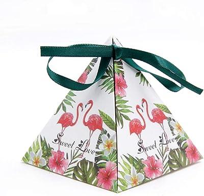 MEIZOKEN 10pcs/lot Beautiful Gift Candy Box 5 Styles Flamingo Theme Birthday Party Decor Wedding