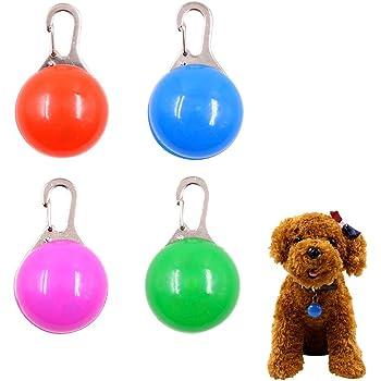 Gobesty Pet Cat Dog Collar Light, LED Dog Safety Collar Clip On Dog Collar Light Flash Collar LED Light Dog Night Walking Lights Dog Guide Lights Dog Collars for Pets Dogs Night Walking